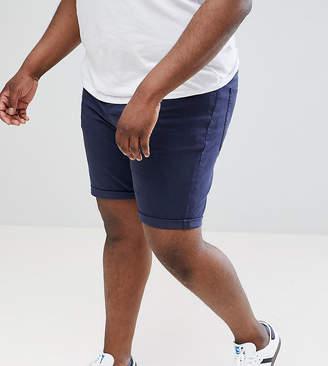 Asos Design DESIGN Plus Denim Shorts In Slim Blue