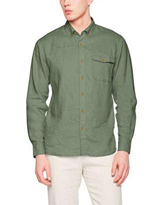 Isle Bay Linens Men's Slim-Fit 100% Linen Long-Sleeve Button-Down Woven Shirt