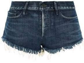 3x1 Frayed Faded Denim Shorts