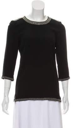 Isabel Marant Beaded Long Sleeve Top