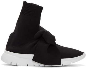 Joshua Sanders Black Knot Sock High-Top Sneakers