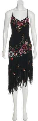 Sue Wong Embellished Asymmetrical Sleeveless Dress