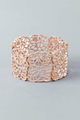 francesca's Samantha Stretch Filigree Bracelet - Rose/Gold