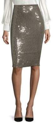 Alice + Olivia Rue Sequin Pencil Skirt