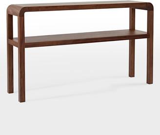 Rejuvenation Woodson Walnut Console Table