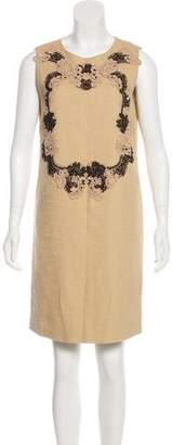 Dolce & Gabbana Floral Lace Appliqué Dress
