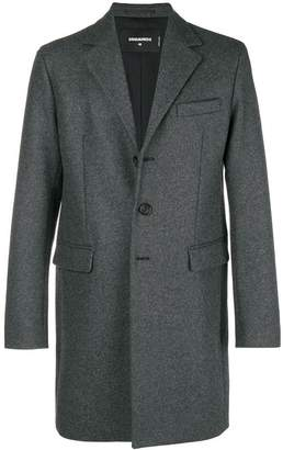DSQUARED2 single-breasted fitted coat