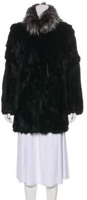 Adrienne Landau Fur Collar Jacket