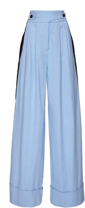 Palmer Harding palmer/harding palmer//harding Striped Stretch-Cotton Wide-Leg Pants