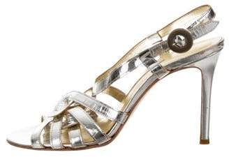 Cynthia Vincent Metallic Leather Sandals