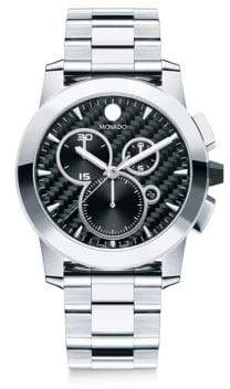 Movado Mens Stainless Steel Chronograph Watch