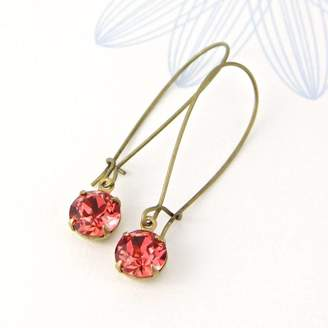 Swarovski Gaamaa Long Drop Earrings Made With Crystals