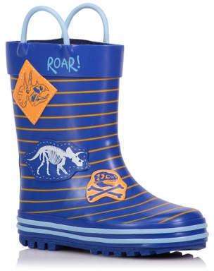 Dinosaur Striped Wellington Boots