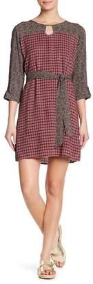 THML Contrast Yoke Patterned Dress