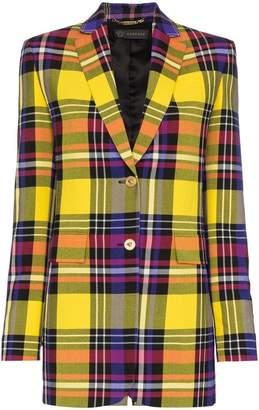 Versace Tartan wool blazer