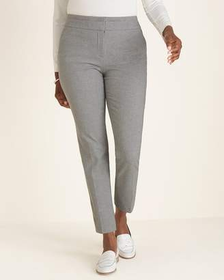 So Slimming Sophia Houndstooth Slim Ankle Pants