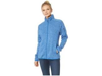 White Sierra Sweater Fleece Full Zip Jacket