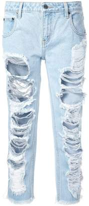 Pony Stone low waist ripped jeans