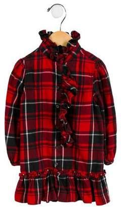Ralph Lauren Girls' Plaid Ruffle-Accented Dress