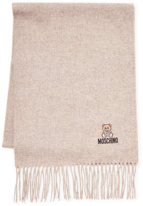 Moschino Bear Logo Wool Scarf