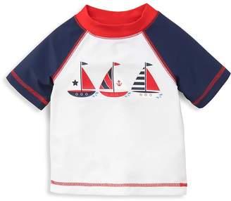 Little Me Baby Boy's Sailboat Printed Rashguard - Navy, Size 6-9 mo