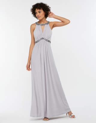 Monsoon Isabeli Embellished Jersey Maxi Bridesmaid Dress