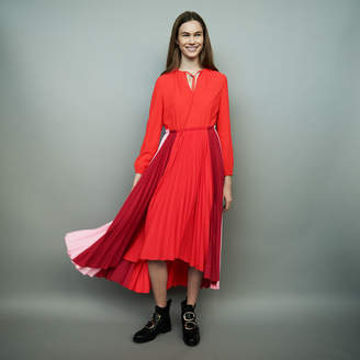 Maje Pleated multicolor shirt dress
