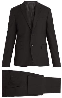 Valentino Notch Lapel Wool Blend Suit - Mens - Black