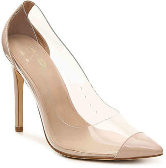 Women's Giazza Pump -Nude/Clear $75 thestylecure.com