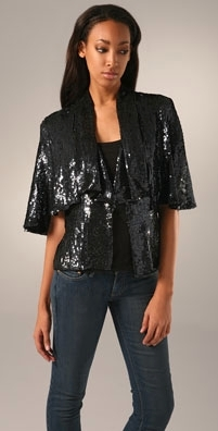 What Comes Around Goes Around Daliah Sequined Capelet
