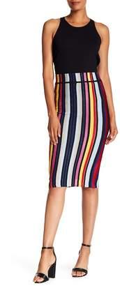 Rachel Roy Multi Stripe Knit Skirt
