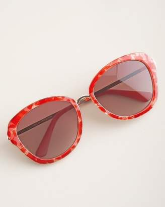 Chico's Chicos Pink Floral-Print Sunglasses