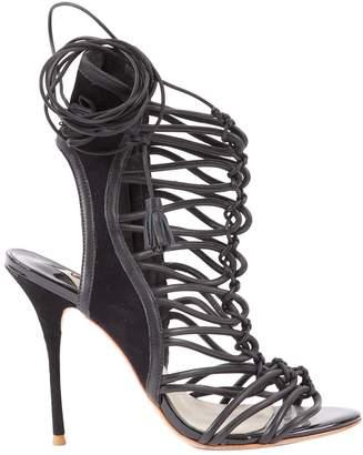 Sophia Webster Black Leather Heels