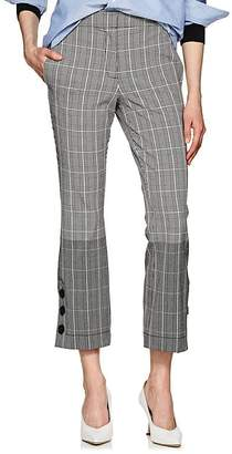Derek Lam 10 Crosby Women's Prince Of Wales Checked Crop Trousers