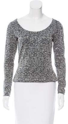 Naeem Khan Embellished Long Sleeve Top