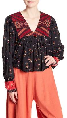 Free People Lady Lou Patterned Blouse