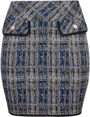 Dorothy Perkins Womens **Dp Curve Multi Colour Checked Boucle Mini Skirt