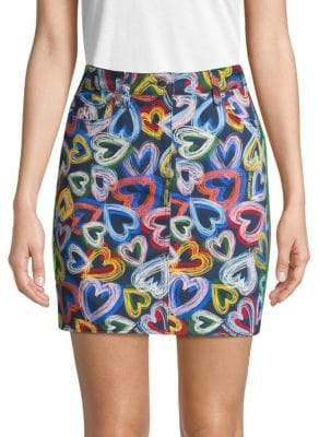Love Moschino Heart-Print Pencil Skirt