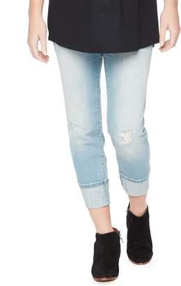 Motherhood Maternity Secret Fit Belly Cuffed Crop Maternity Jeans