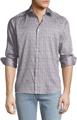 Etro Men's Zebra Pattern Sport Shirt