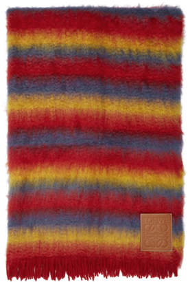 Loewe Rainbow Mohair and Wool Blanket