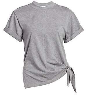 3.1 Phillip Lim Women's Heathered Side-Tie T-Shirt