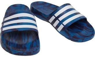 b86a8fb74d43a2 adidas Duramo Slides Core Blue Footwear White Noble Ink
