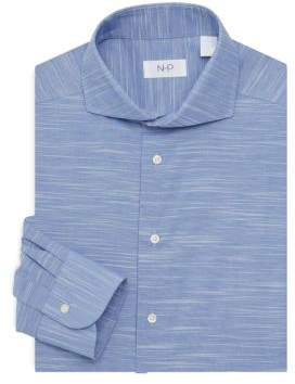 Trim-Fit Fancy Marled Stripe Dress Shirt