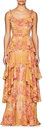 By Ti Mo byTiMo Women's Floral Cotton-Blend Voile Gown