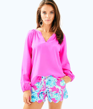 Lilly Pulitzer Womens Leslie Silk Top