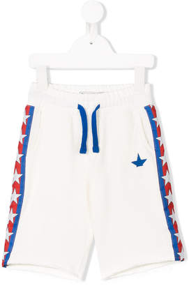 Macchia J Kids star logo stripe track shorts