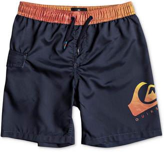 Quiksilver Big Boys Lava Logo-Print Swimsuit