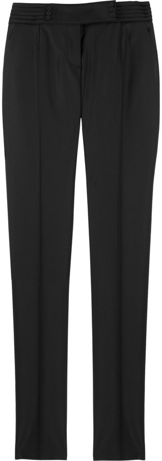 Stella McCartney Wool-blend tuxedo pants