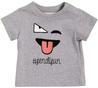 Fendi Emoji Print Cotton Jersey T-Shirt
